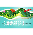 summer sale banner design template vector image vector image