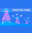 the digital marketing funnel infographic winning vector image