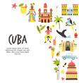 tourist poster with famous destinations and vector image