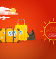 Travel bags Vacation concept with bags vector image vector image