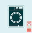 wash laundry symbol line design washing machine vector image vector image