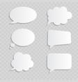 white blank retro speech bubbles set on vector image
