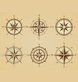 wind rose nautical marine travel symbols for vector image