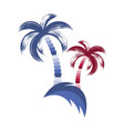 with brush stroke palm trees vector image