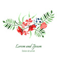 with flowers and leaves vector image