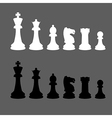 Complete set of silhouettes chess pieces vector image