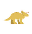 cute cartoon triceratops dinosaur prehistoric and vector image