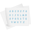 A paper with the alphabet vector image vector image