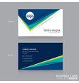 Abstract modern Blue Green Business card vector image vector image