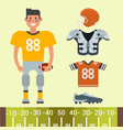 american football player and sport game uniform vector image vector image