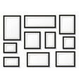 black and white frames set vector image vector image