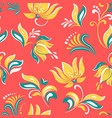 bright flowers floral russian beautiful folk vector image