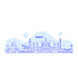 budapest skyline hungary city buildings vector image vector image
