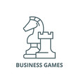 business games line icon business games vector image
