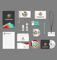 business identity branding realistic vector image