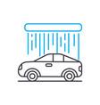 car wash thin line stroke icon car wash vector image vector image