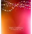 Christmas Lights Background for your seasonal vector image vector image
