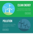 Clean energy and pollution banners vector image vector image