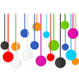 colorful circle abstract background vector image vector image