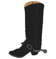 Cowboy boots with spur vector image vector image