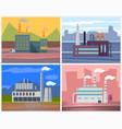 factories and enterprises industry manufacturing vector image vector image