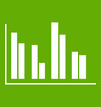 financial analysis chart icon green vector image vector image