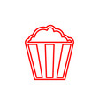 flat line popcorn icon vector image vector image