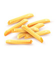 french fries roasted potato vector image
