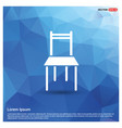 furniture chair icon vector image