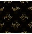Gold vintage seamless floral pattern vector image vector image
