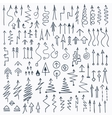 Hand Drawn Doodle Arrows Set vector image