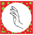 hand gesture touching vector image vector image