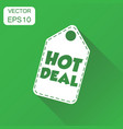 hot deal hang tag icon business concept sale vector image