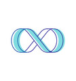 infinity symbol isolated on white background blue vector image