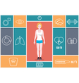 Infographic of fitness and health indicators vector image