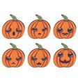 kawaii pumpkin design vector image