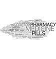 medicine word cloud concept vector image vector image