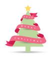 modern christmas tree 2016 vector image vector image