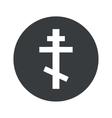 Monochrome round orthodox cross icon vector image vector image