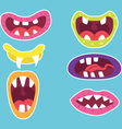 Monster Mouths Set vector image vector image