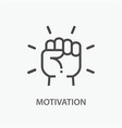 motivation line icon on white background vector image