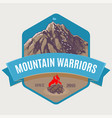 mountain climbing to peak vector image vector image