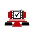movie deal vector image vector image