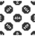 page with a 404 error icon seamless pattern vector image vector image
