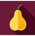 Pear flat icon with long shadow vector image