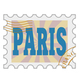 post stamp of Paris vector image