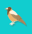 raven paper sticker on stylish background vector image vector image