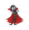 reepy count dracula character vampire wearing in vector image
