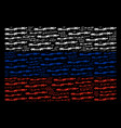 russia flag collage of barbed wire items vector image