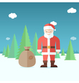 Santa Claus in the forest Flat vector image